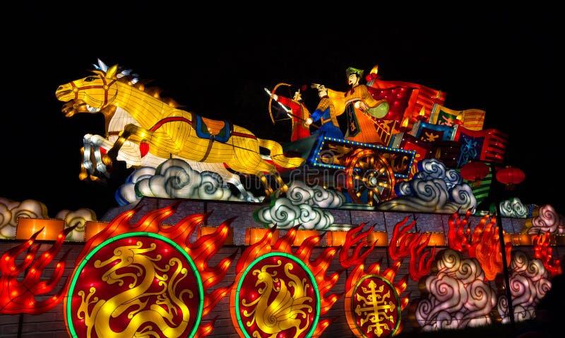 Iluminujący Chiński rydwan fotografia stock