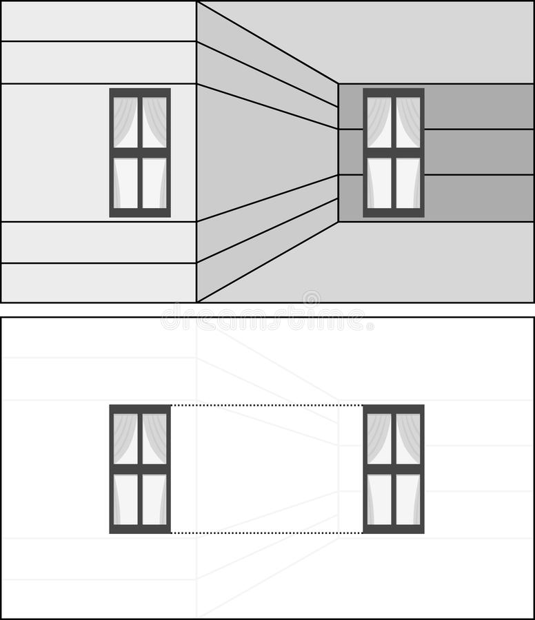 Ilusão ótica ilustração stock