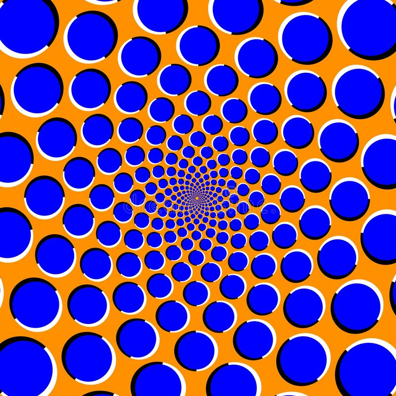 Ilusão ótica com círculos moventes ilustração do vetor