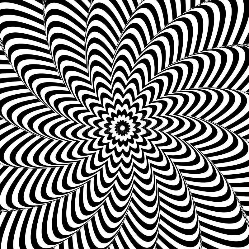 Ilusão ótica Fundo abstrato preto e branco ilustração do vetor