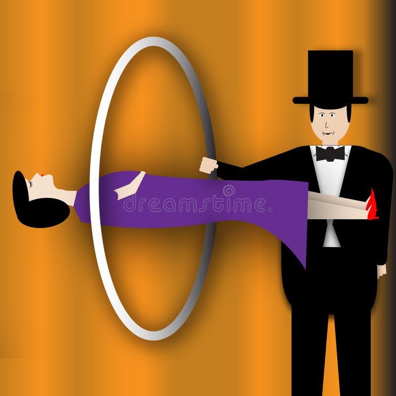 Ilusão da levitação ilustração do vetor
