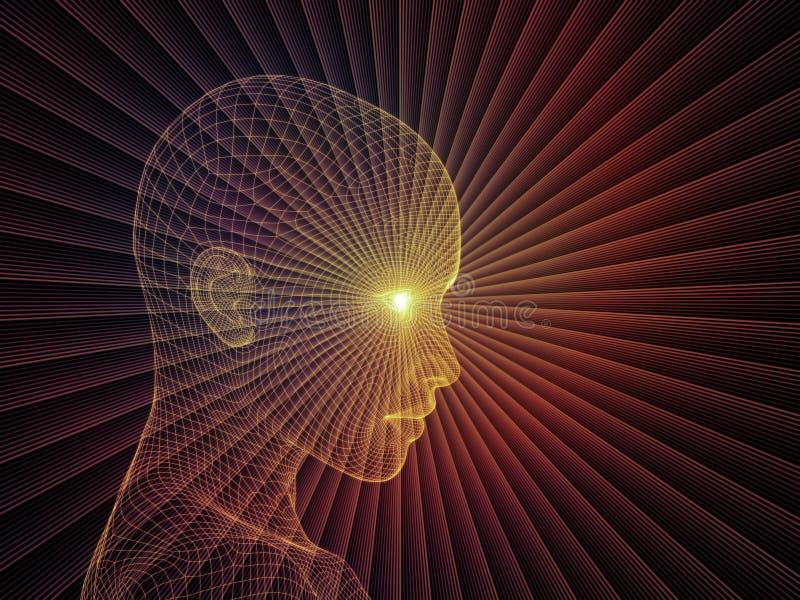 Ilusão da mente ilustração stock