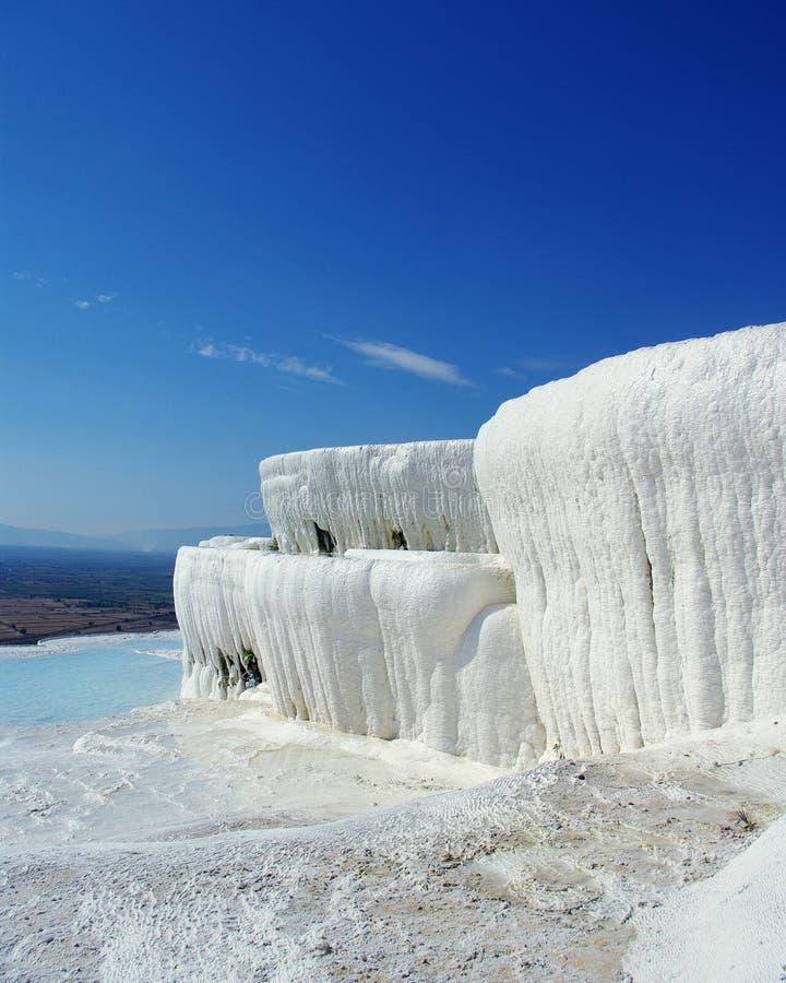 Ilusão da neve de Pamukkale imagem de stock royalty free