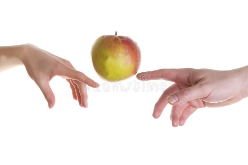 Ilusão de Apple imagem de stock