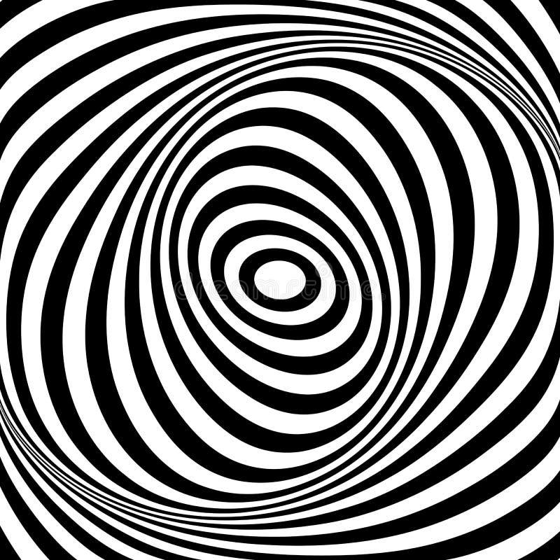 Ilusão do movimento do giro Linhas ovais textura ilustração royalty free