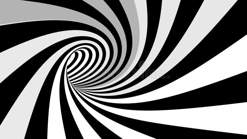 Ilusão espiral hipnótica ilustração royalty free