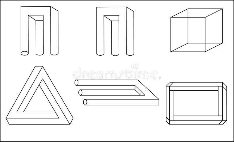 Ilusão Geométrica Imagem de Stock
