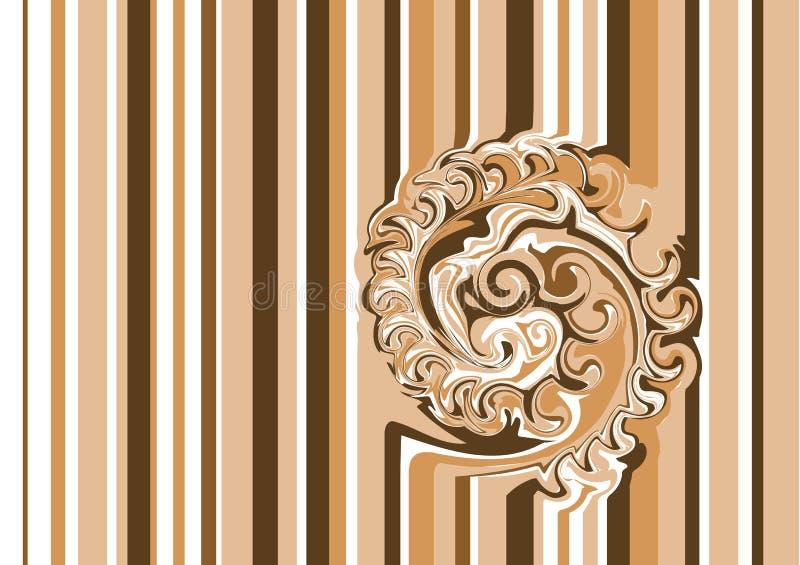 Ilusões óticas do café ilustração royalty free