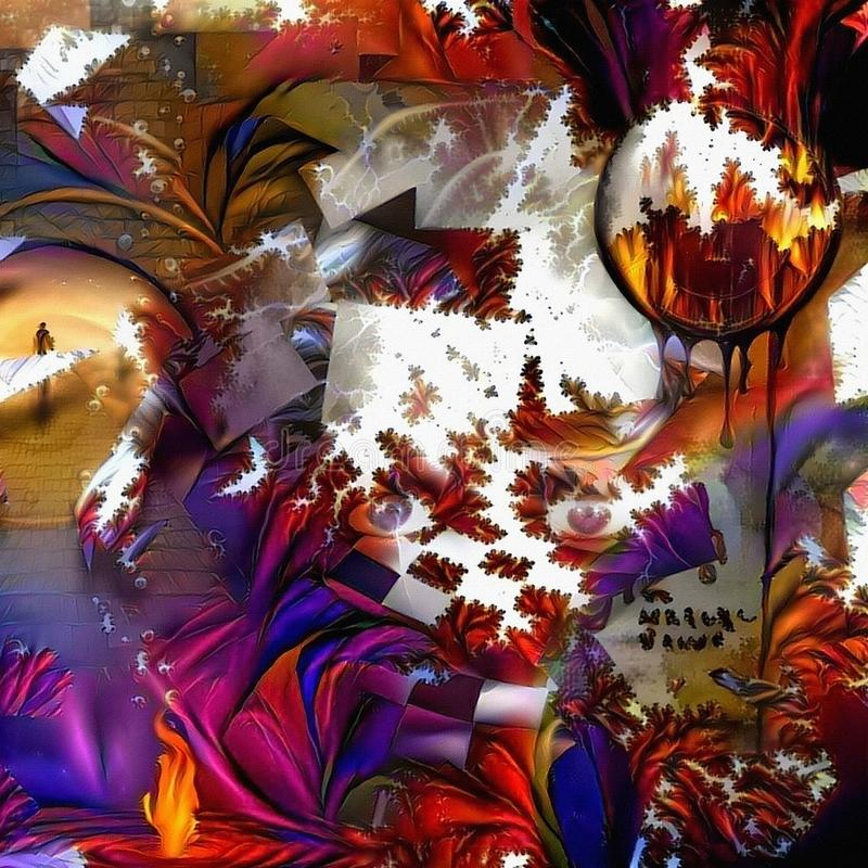 Ilusões coloridas ilustração stock