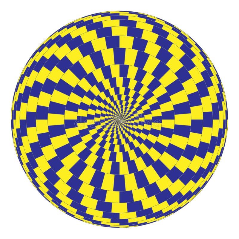 Ilusión óptica stock de ilustración