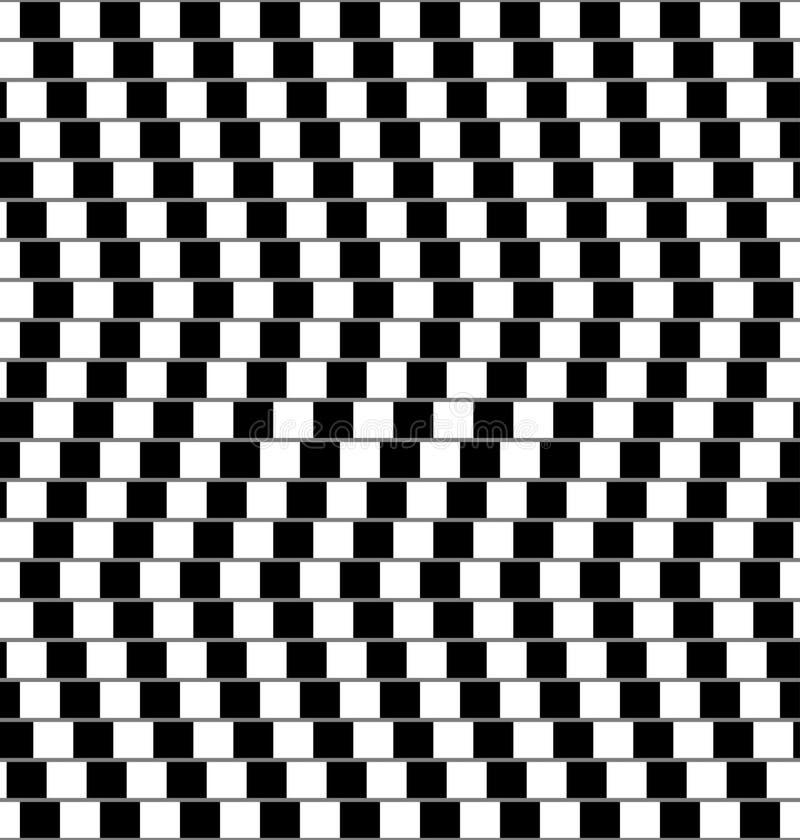 Ilusión óptica blanco y negro libre illustration