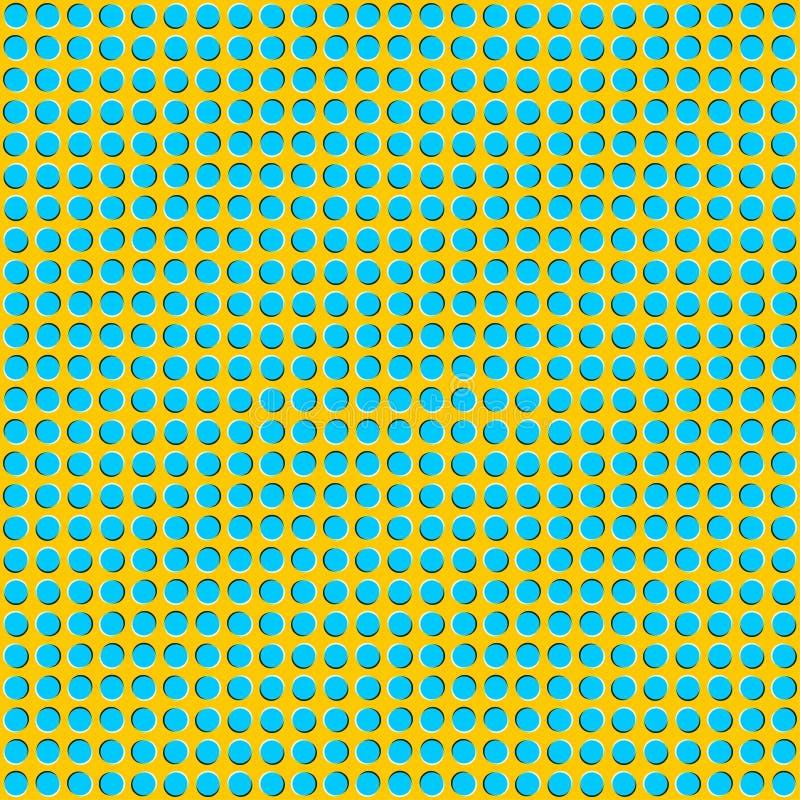 Ilusión óptica del movimiento Ilusión de las ondas móviles para sus BU stock de ilustración