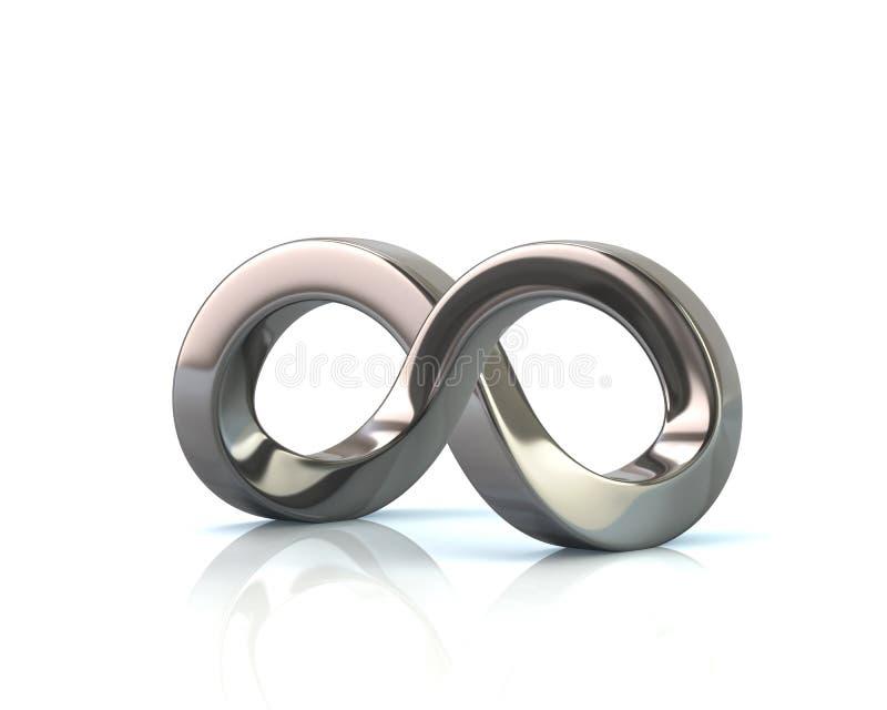 Ilusión óptica del símbolo imposible del infinito stock de ilustración