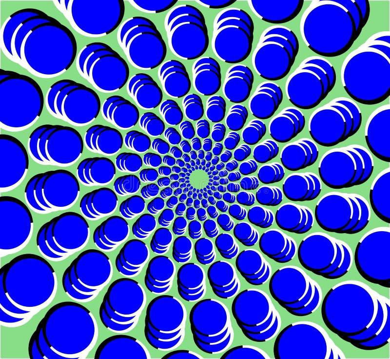 Ilusión óptica del túnel multi del círculo con el movimiento percibido libre illustration