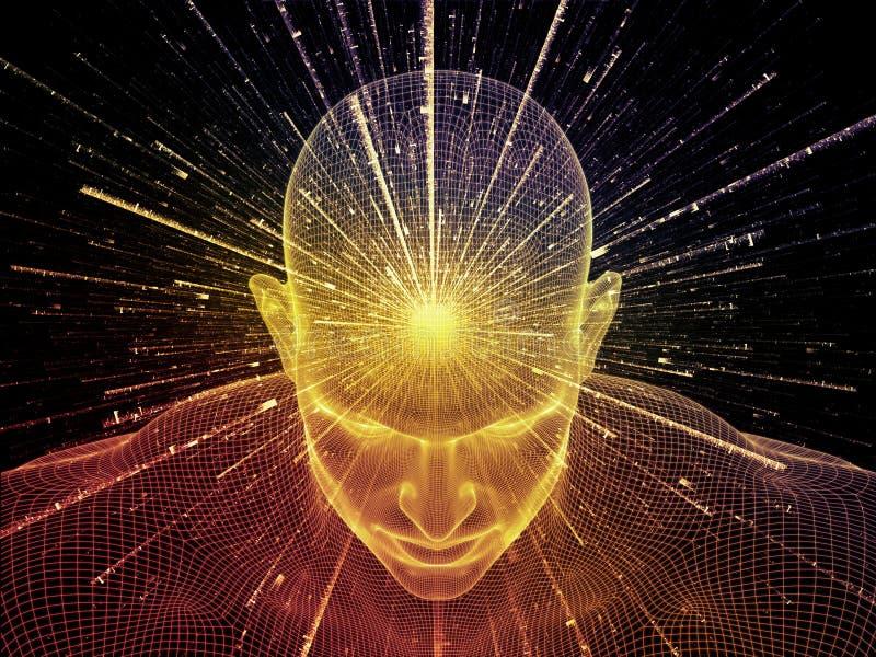 Ilusión de la mente ilustración del vector