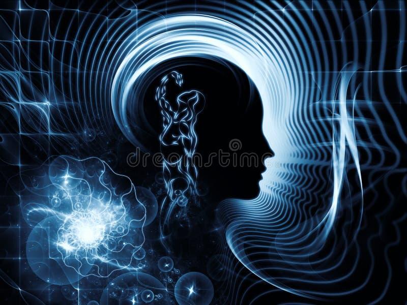 Ilusión de la mente humana stock de ilustración