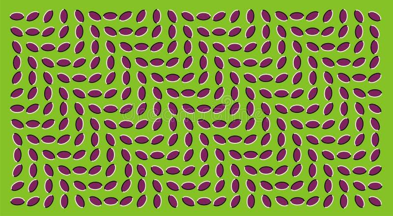 Ilusiones ópticas stock de ilustración