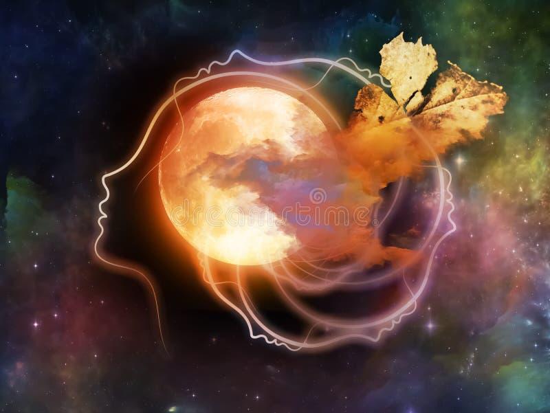Ilusiones de la luna ilustración del vector