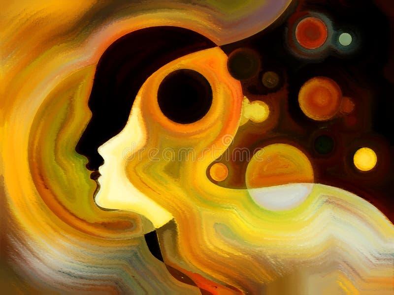 Ilusiones de la pintura interna ilustración del vector