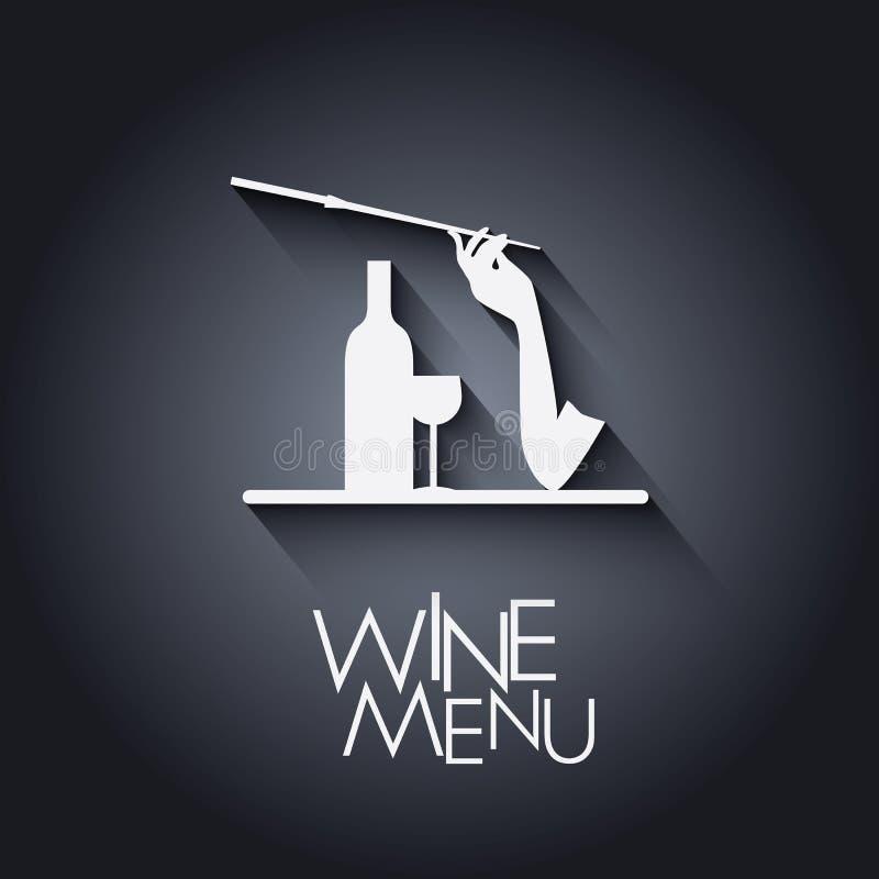 Ilustração à moda do menu do vinho Vetor Eps10 ilustração stock
