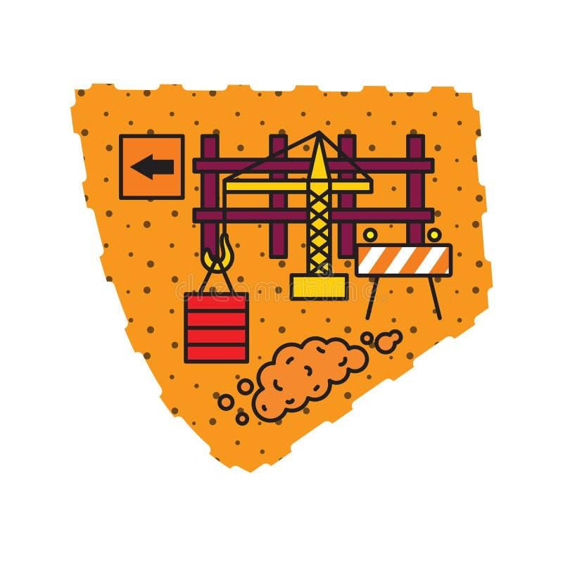 Ilustração à terra do vetor da construção ilustração royalty free