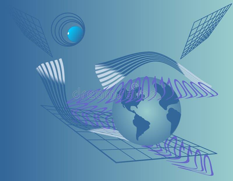 Ilustração ótica azul do fundo do negócio ilustração royalty free