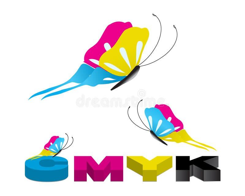 Ilustração 02 de CMYK ilustração royalty free