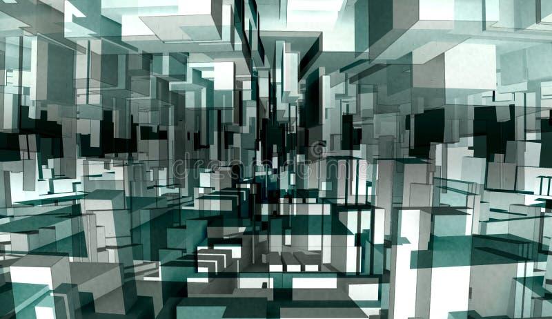 Ilustração 3d abstrata ilustração stock
