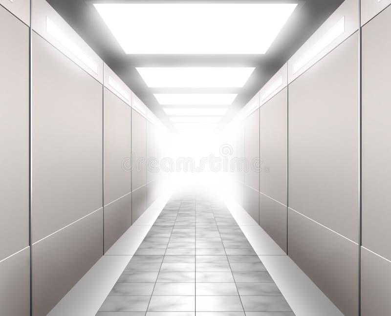 ilustração 3D de um corredor ilustração stock
