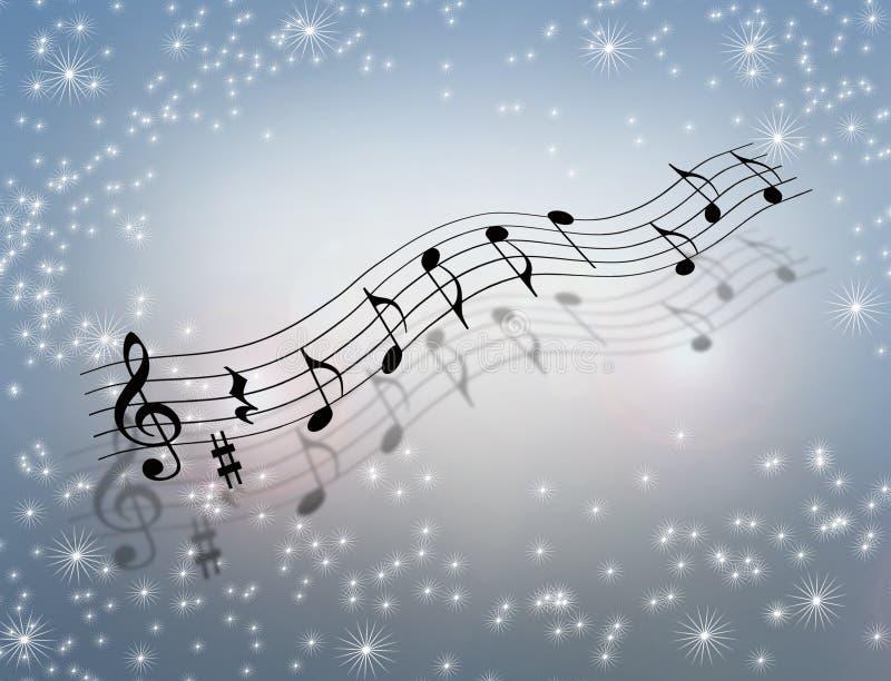 Ilustração 3D mágica da música ilustração stock