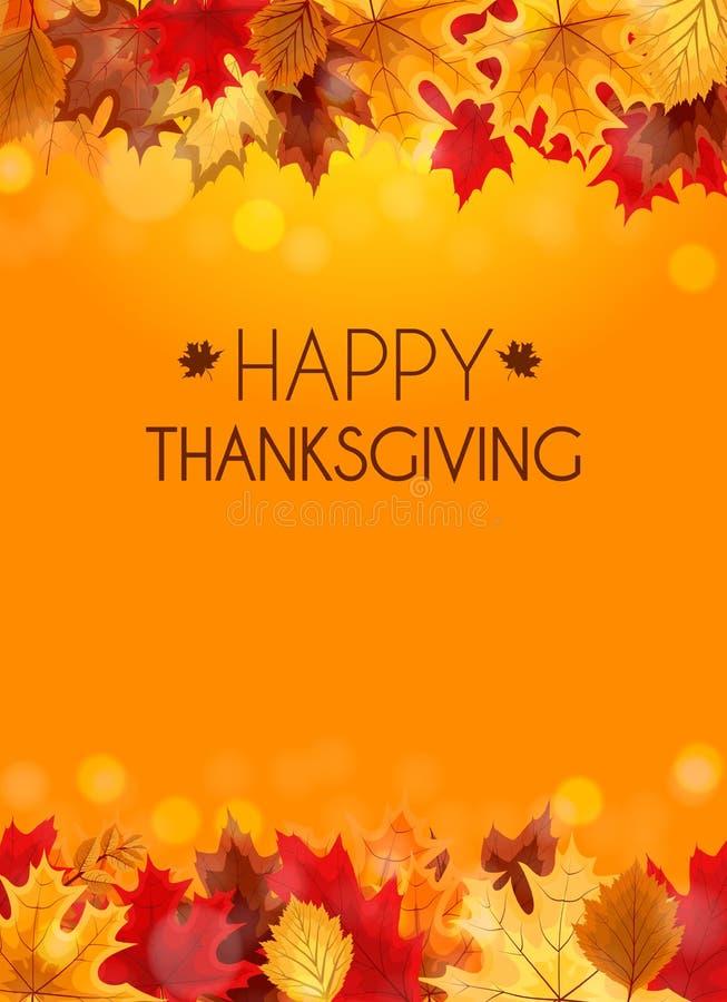 Ilustração abstrata Autumn Happy Thanksgiving Background do vetor ilustração stock