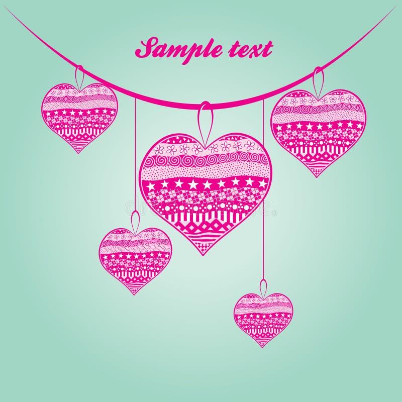 Ilustração abstrata bonita para o dia de Valentim ilustração royalty free