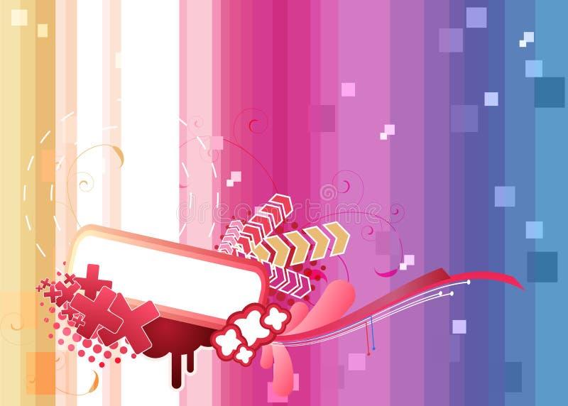 Ilustração abstrata colorida ilustração stock