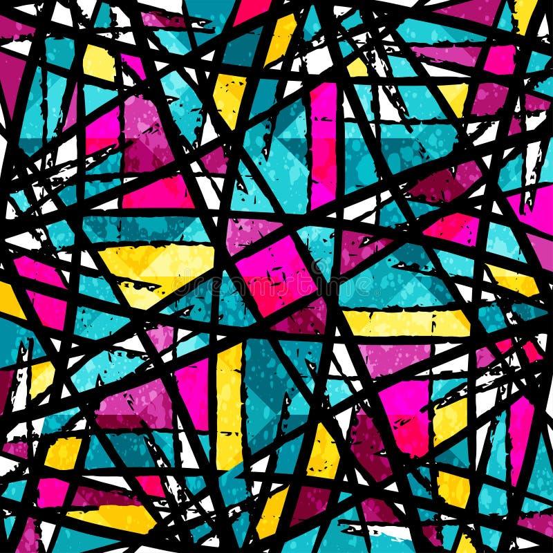 Ilustração abstrata colorida bonita do vetor dos polígono dos grafittis ilustração royalty free