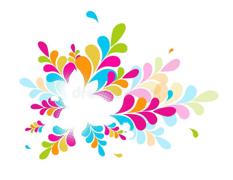 Ilustração abstrata colorida. Vetor ilustração stock
