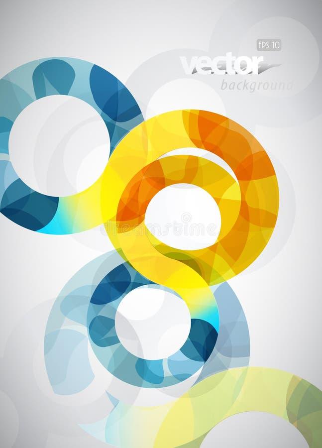 Ilustração abstrata com círculos. ilustração stock