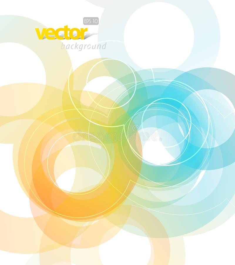 Ilustração abstrata com círculos. ilustração do vetor