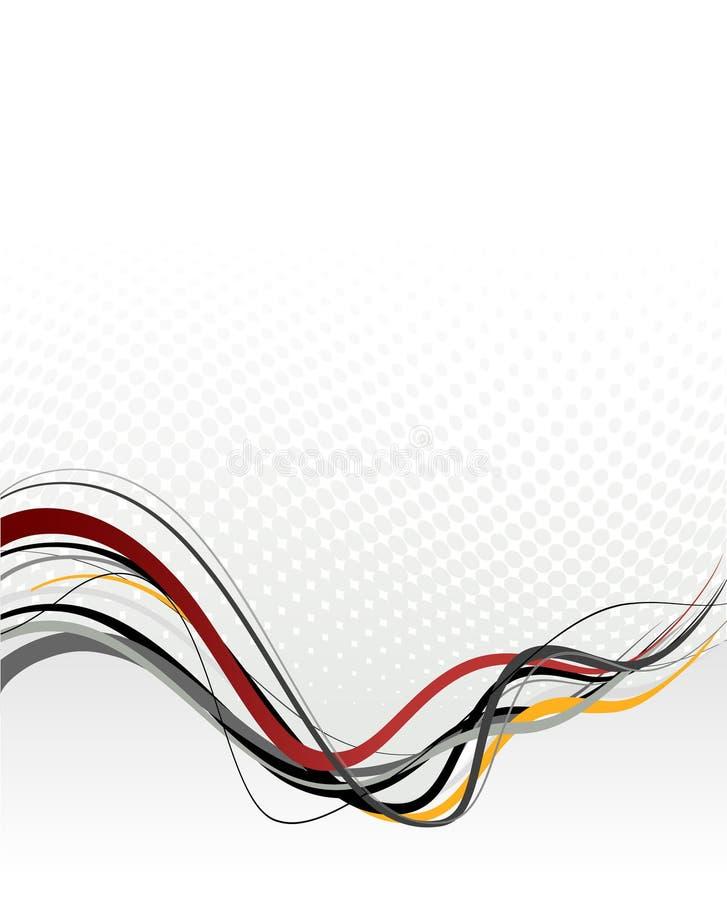 Ilustração abstrata com linhas. ilustração royalty free