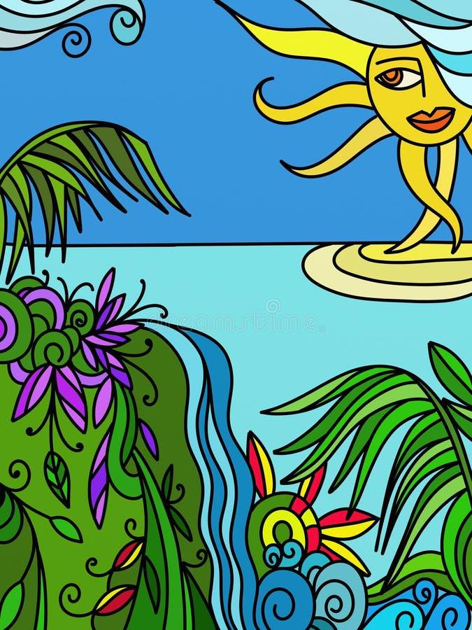 Download Ilustração Abstrata Com Natureza Ilustração Stock - Ilustração de colorido, fundo: 16853231