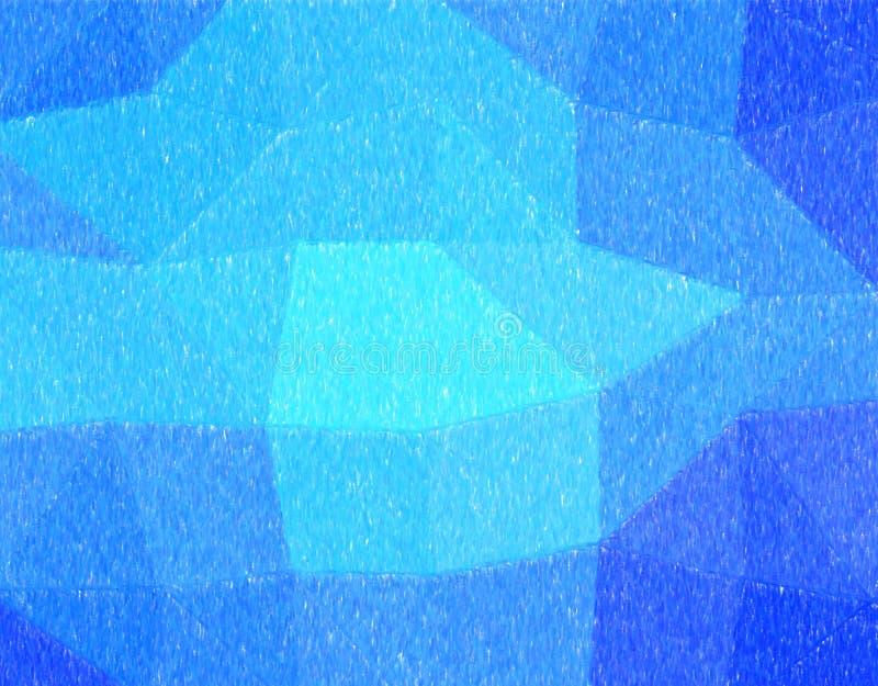 Ilustração abstrata considerável do lápis azul da cor com pintura grande da cobertura Fundo impressionante para seu projeto ilustração royalty free