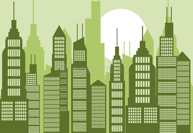 Ilustração abstrata da cidade ilustração royalty free
