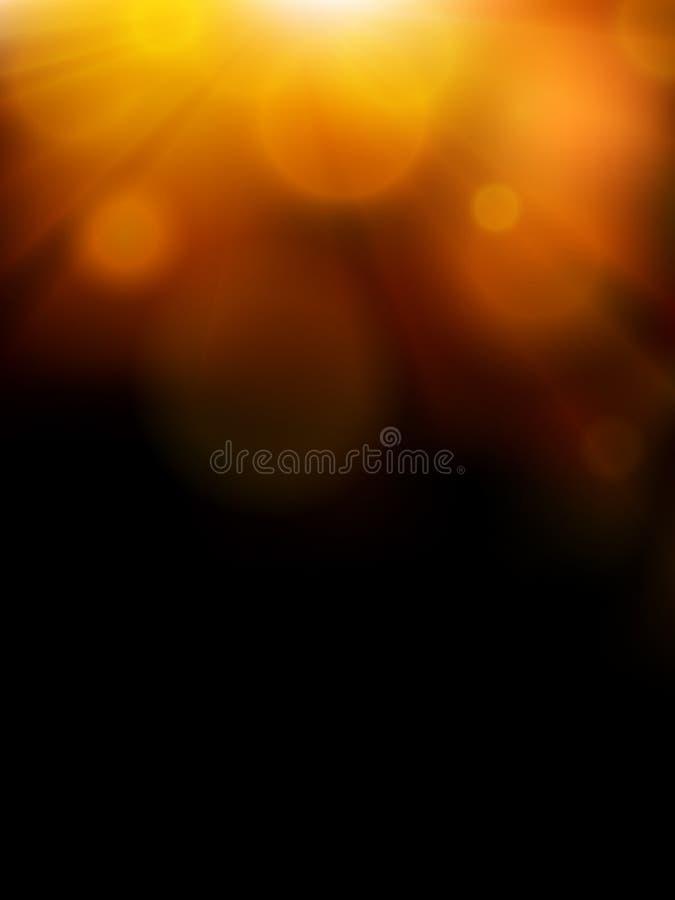 Ilustração abstrata da luz do sol ilustração royalty free