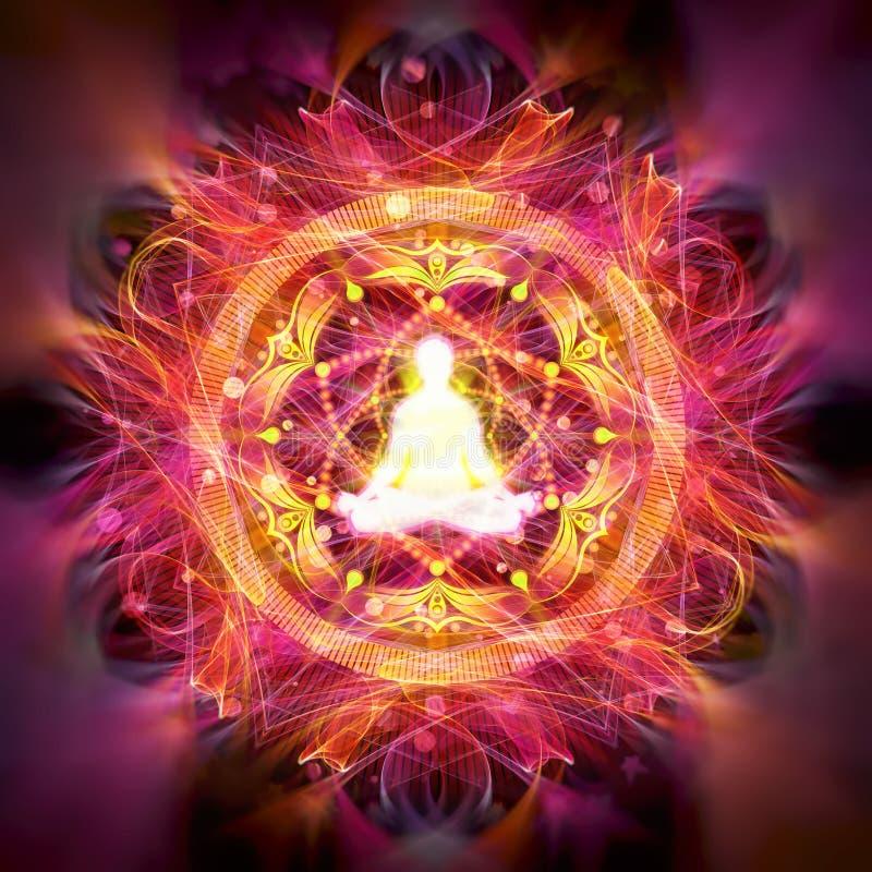 Ilustração abstrata da meditação ilustração stock