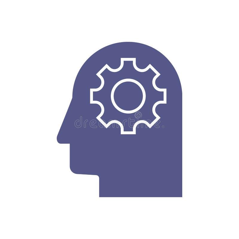 Ilustração abstrata de um cérebro da placa de circuito eletrônico no perfil, conceito da inteligência artificial do ai ilustração stock