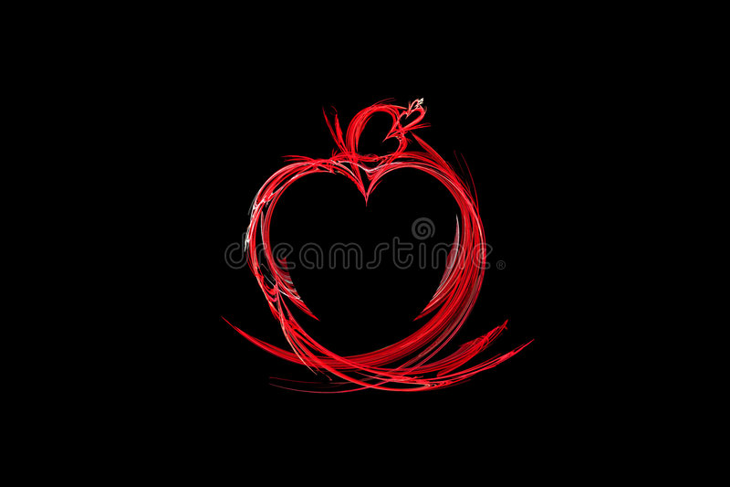 Ilustração abstrata de um coração ilustração stock