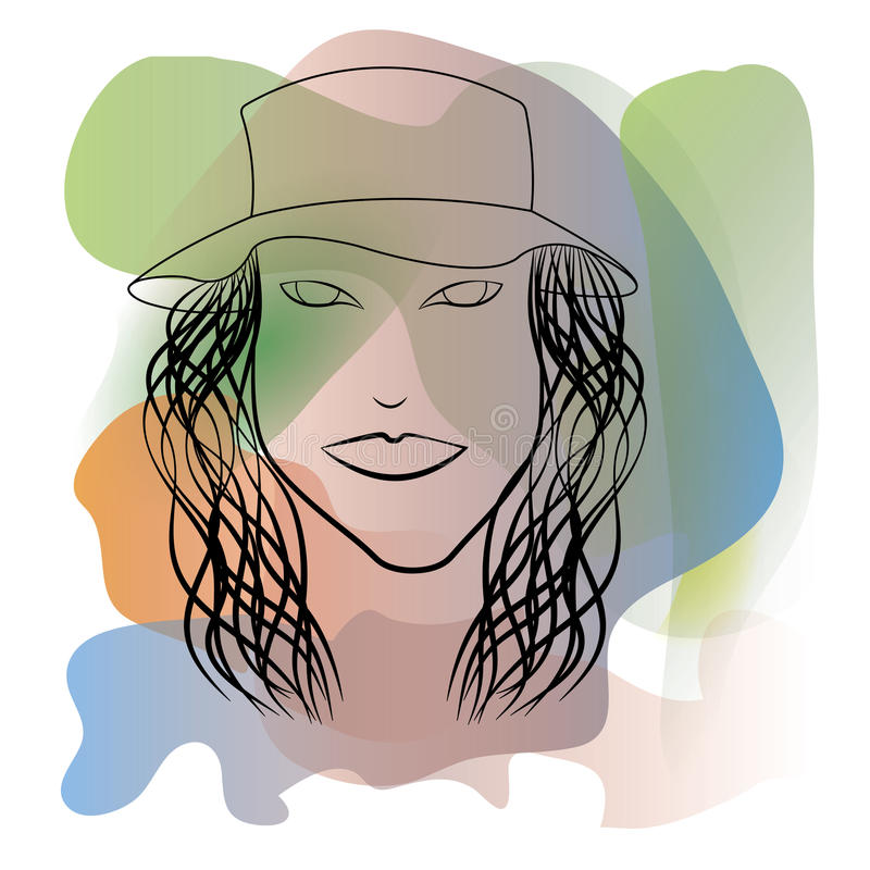 Ilustração abstrata de uma menina ilustração do vetor