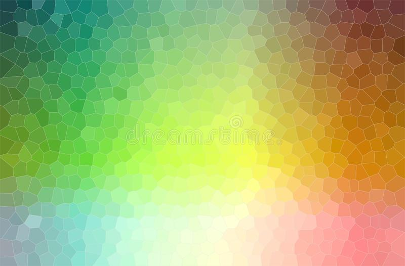Ilustração abstrata de verde, de azul, a laranja e o fundo pequeno pastel cor-de-rosa do hexágono ilustração do vetor