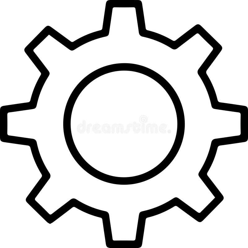 Ilustração abstrata do ícone dos ajustes da roda denteada ilustração do vetor