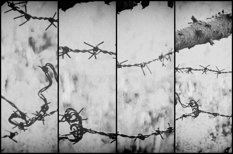 Ilustração abstrata do arame farpado fotografia de stock