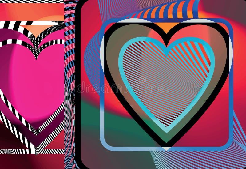 Ilustração abstrata do coração ilustração stock